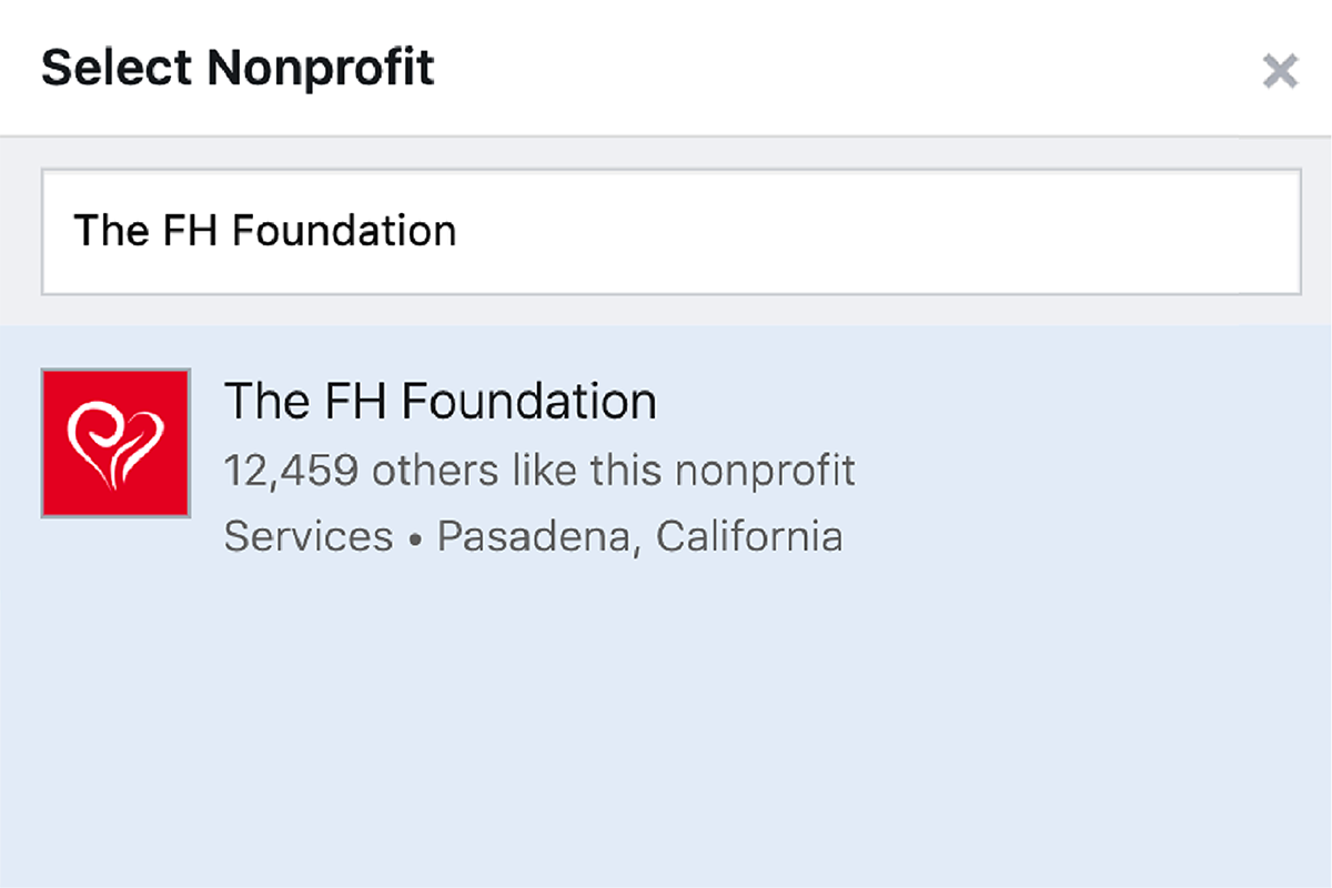 Selecting a nonprofit
