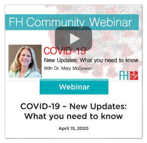 COVID-19 New Updates Community Webinar