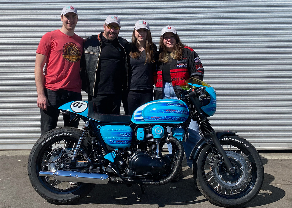 Motorcycle Saves Lives - Owner, Scott, with family
