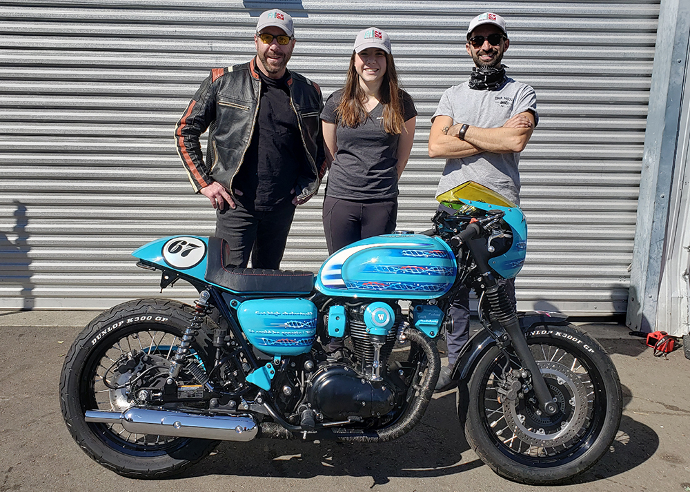 Motorcycle Saves Lives - Owners, Scott and Cloe, with builder, Rodrigo