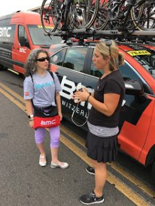 Kate was our liaison from the BMC team. I am telling her my story