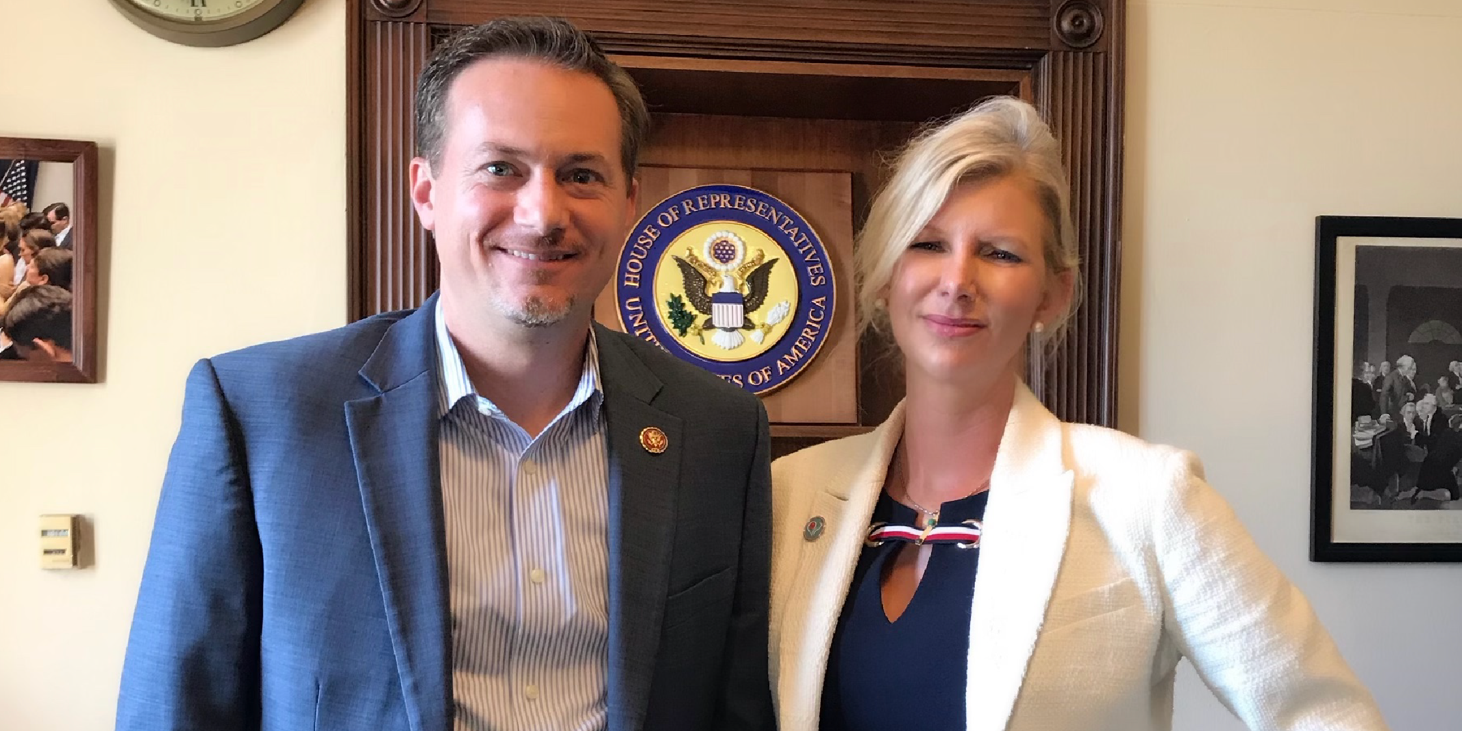 FH Advocate for Awareness, April Donelson with Representative Michael Cloud in Washington DC