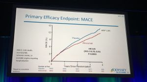 primary efficacy of MACE in ODYSSEY